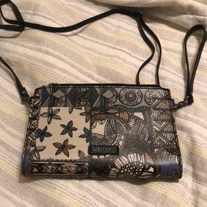 Sak Roots Crossbody Wristlet Wallet NWOT